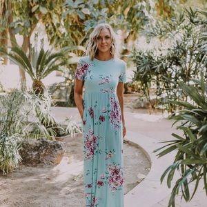 Mint Maxi Maternity Dress